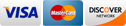 Credit Card Logo images - The Kuker Group accepts Visa, MasterCard and Discover for online payments